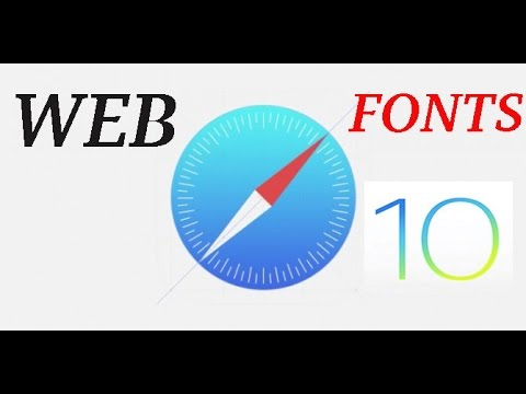 IOS 10 safari font & background features!!
