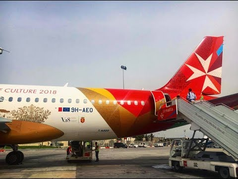 Air Malta | Full Flight Review | Economy Class | MLA-BRU | A320