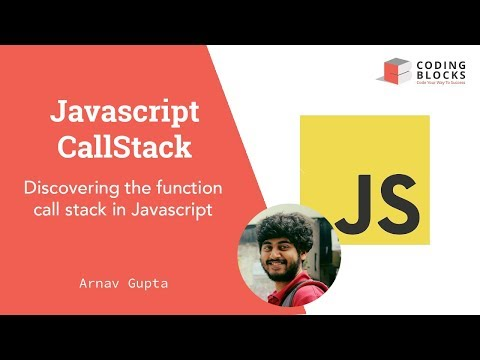 Javascript: The JS callstack explained with a simple example