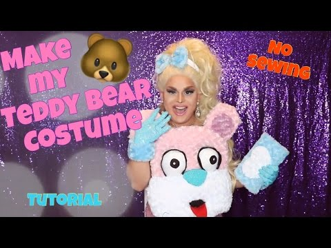 MAKE MY TEDDY BEAR COSTUME | NO SEWING | JAYMES MANSFIELD