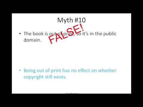Debunking Copyright Myths - Davis McGrath LLC IP Webinar Series - March 13, 2013