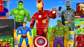 Superhero Toys: Batman, Spider Man, Hulk & Avengers Toy Vehicles Unboxing for Kids