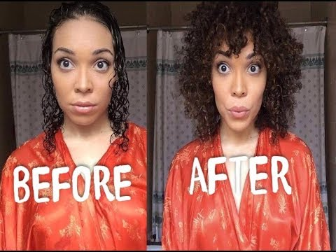 HOW TO GET BIG VOLUME WITH CURLY HAIR. My curly hair routine