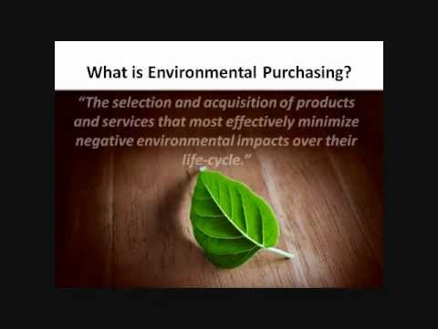 Excerpt - Environmental Purchasing Policy