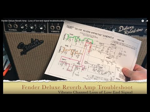 Fender Deluxe Reverb Amp - Loss of low-end signal troubleshooting