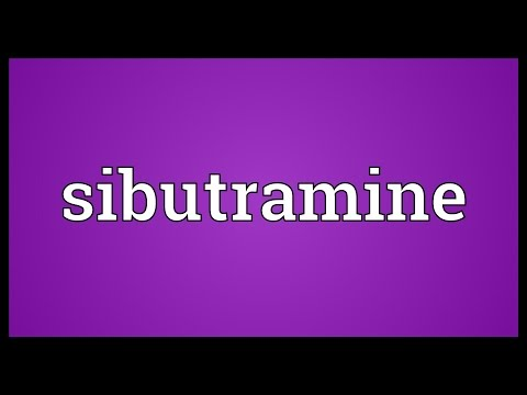 Sibutramine Meaning