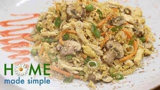 Chicken and Egg Cauliflower Fried Rice | Home Made Simple | Oprah Winfrey Network
