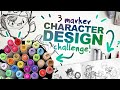 SEND HELP 3 Ohuhu Marker Character Design Challenge