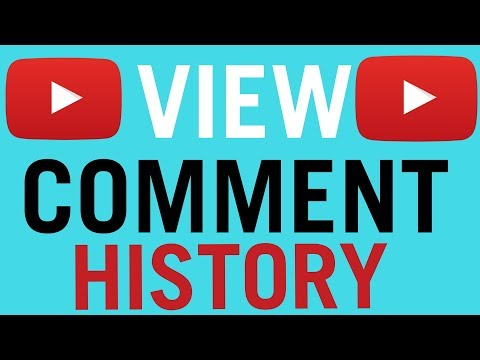 How To View Your Youtube Comment History 2018