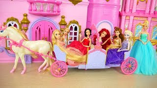 Princess Barbie Expandable Carriage Princess doll New Dresses Putri Barbie Gaun Vestidos Princesa
