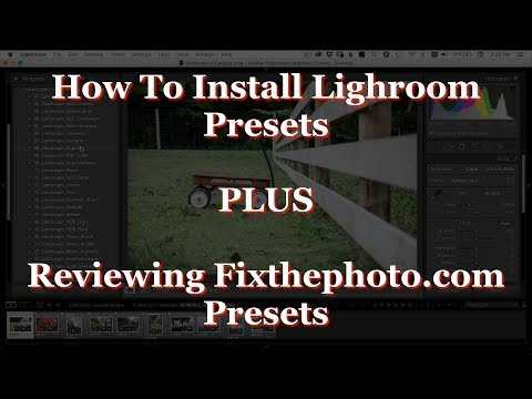 How to install Lightroom Presets and FixthePhoto Review