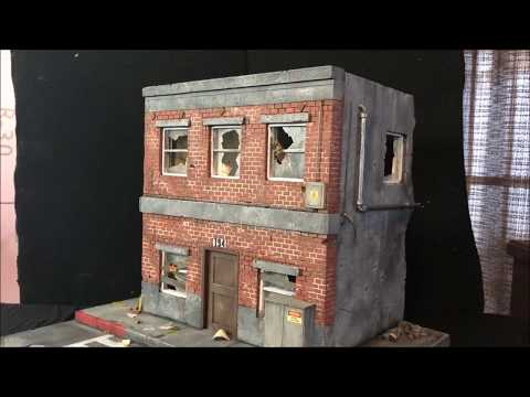 Destroyed Building Diorama # 41