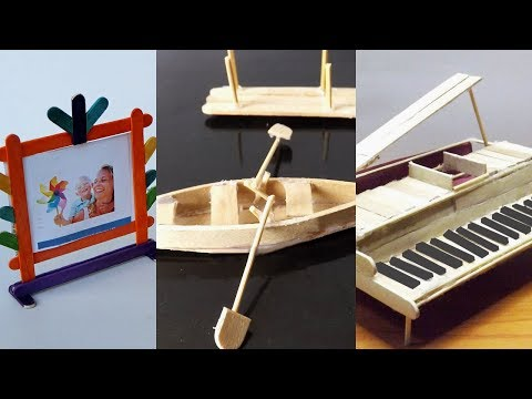 5 Easy Popsicle Stick Crafts You Can Make At Home #2 | DIY & Craft ideas