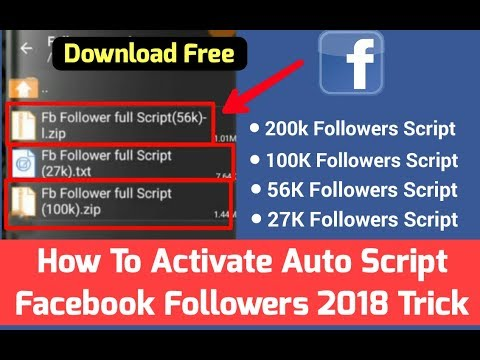 How To Use Facebook Followers Scripts / Download All Followers Scripts Free