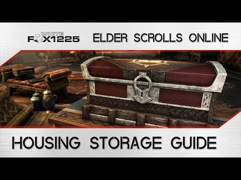 ESO: Housing Storage Guide! How to store items in your home!