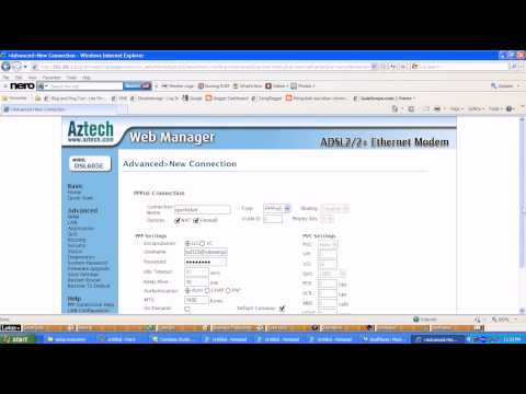 Setup Aztech Modem untuk Stramyx