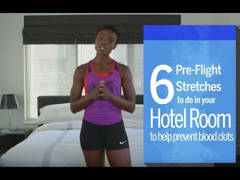 6 Pre-Flight Stretches to Help Prevent Blood Clots | Travel + Leisure