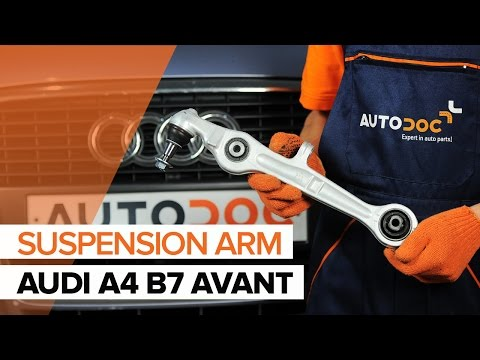 How to replace a front suspension lower front arm onAUDI A4 B7 AVANT TUTORIAL   AUTODOC