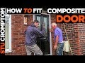 how to fit composite door and repair lintel