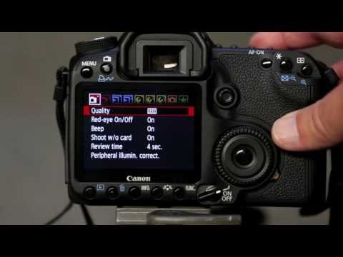 Canon 50D - Selecting RAW file type
