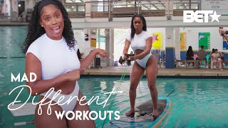 Capri Curves Tries Working On Water! Will She Sink Or Swim?! | Mad Different Workouts