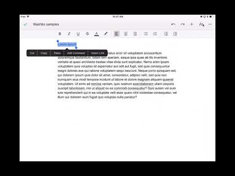 Align and Change Font Size on Google Docs on an iPad