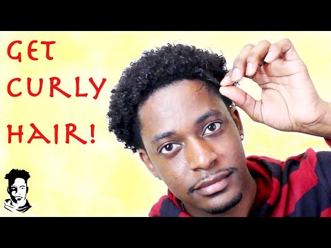 How To Get Curly Hair For Black Men (Curl Kicker) WINSTONEE