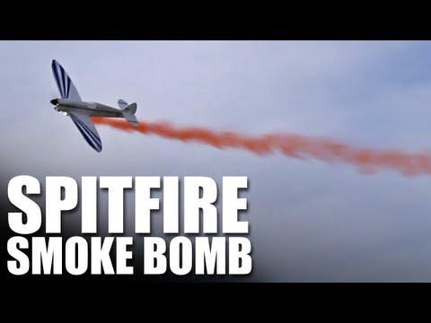 Flite Test - Smoke Bomb on a Spitfire