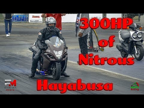 300 Horsepower in Nitrous on a Hayabusa. Would You Ride It? (4k)
