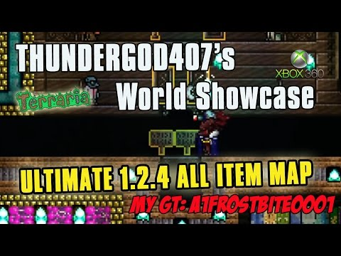 Terraria ULTIMATE 1.2.4.1 ALL ITEMS MAP! ThunderGod407's 1.2.4 ALL Items