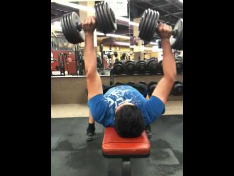 100 lb DB benchpress