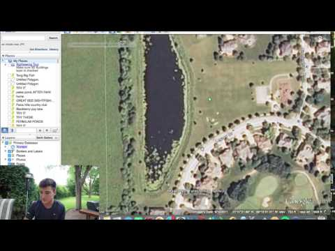 Finding the BEST Fishing Ponds - Google Earth Tricks