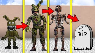 IF MINECRAFT FNAF SPRINGTRAP HAD A REALISTIC LIFE SPAN (Be Born a Baby & Die Old)
