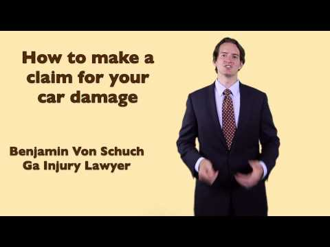 How to make an insurance claim for car damage in Georgia  | Atlanta Accident Lawyer