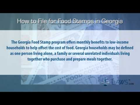 How to File for Food Stamps Georgia