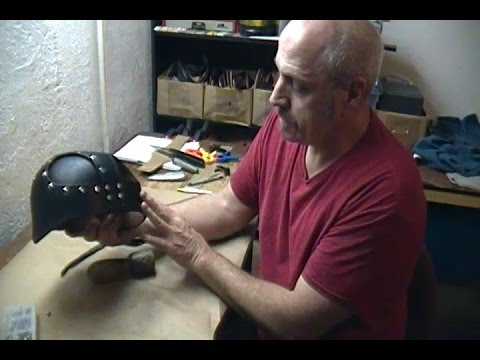 How To Make a Leather Samurai Helmet - Part Two