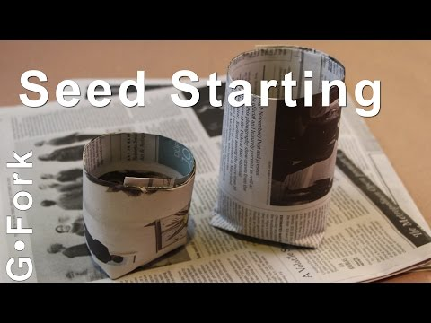 Seed Starting Paper Pots - DIY GardenFork