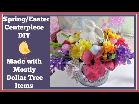 Spring/ Easter Centerpiece DIY🌷 Mostly Dollar Tree Items
