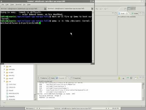 Debugging the Linux kernel using Eclipse/CDT and Qemu