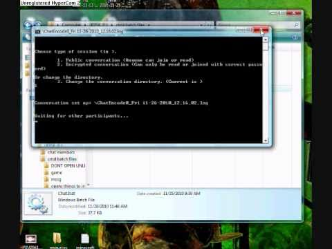How to make a messenger using cmd notepad
