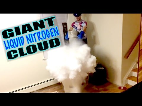 Giant Liquid Nitrogen Clouds Experiment!