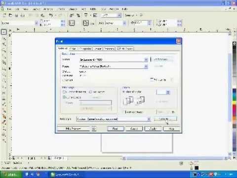 How to Configure Corel to Auto Mirror Prints -