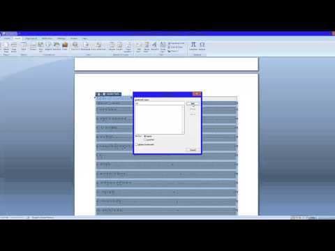 How to make table of contents in Word Document