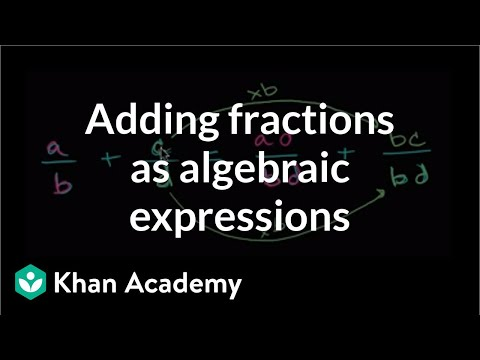 Algebraic expression adding fractions | Introduction to algebra | Algebra I | Khan Academy