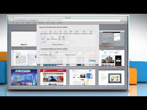 How to customize Safari  toolbar in Mac