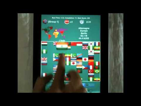 Flag Solitaire + Quiz  Video Demo
