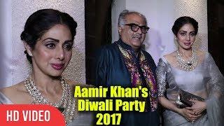 Sri Devi With Husband Boney Kapoor At Aamir Khan