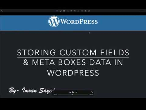 Saving Custom Fields and Meta Boxes Data in WordPress