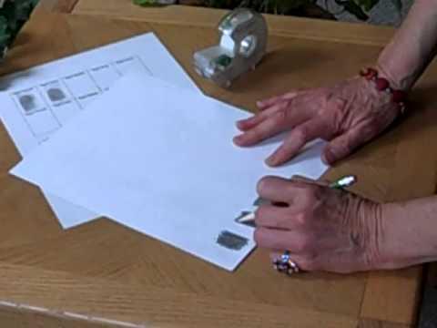 Paper Pencil Tape Method - Capture your Fingerprints