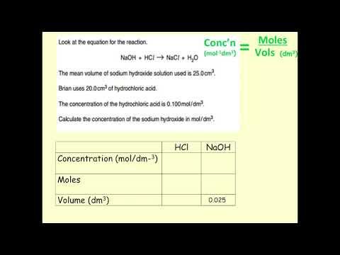 Concentration,  moles, volume